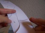 Cortamos las piezas con tijeras de doble filo de Tiffany
